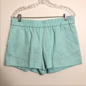 J. Crew | Mint Floral Jacquard Boardwalk Shorts